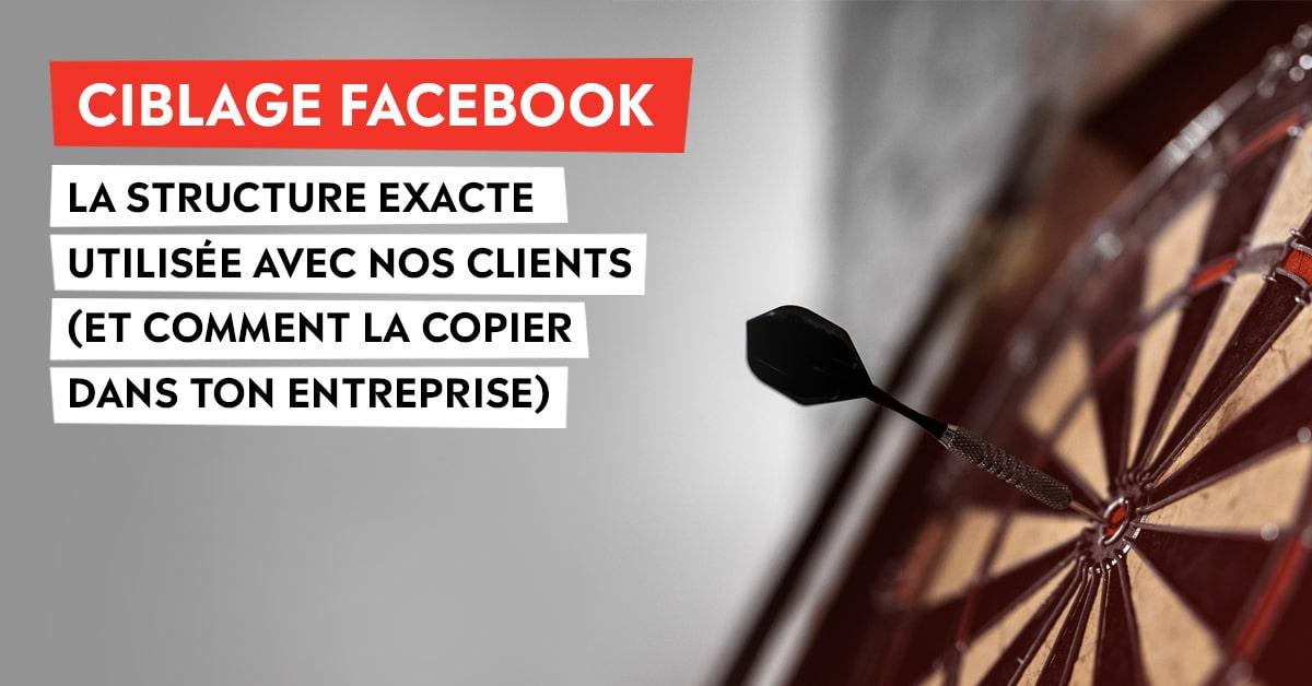 Ciblage Facebook: La structure exacte utilisée avec nos clients (et comment la copier dans ton entreprise)